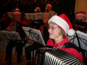 Østsjællands Harmonika Orkester akkompagnerede også til en række fællessange, blandt andre Kom tro, og kom glæde, som er en dansk gendigtning af engelske: O come all ye faithful, samt Jeg er så glad hver julekvæld og Vi ønsker jer alle sammen